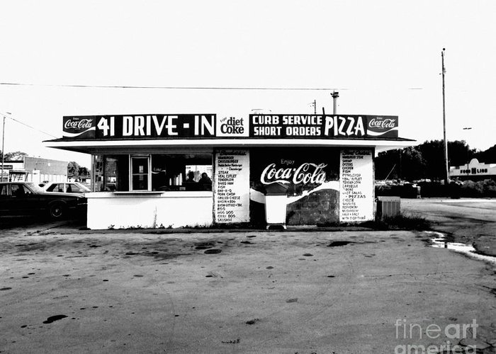 Cafe Greeting Card featuring the photograph 41 Drive In-manchester Tennessee by  Joe Beasley
