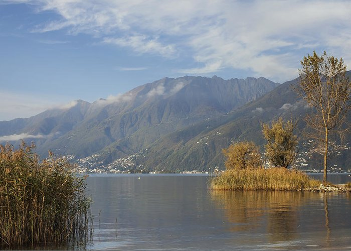 Lago Maggiore Greeting Card featuring the photograph Lake Maggiore by Joana Kruse