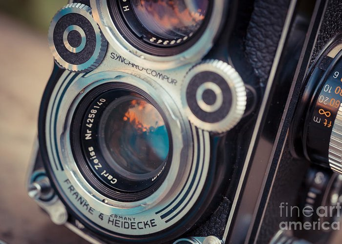 Old Camera Greeting Card featuring the photograph Old Vintage Camera by Sabino Parente