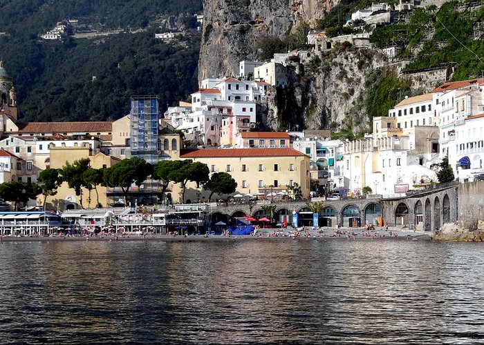 Amalfi Coast Greeting Card featuring the photograph Views From The Amalfi Coast In Italy by Richard Rosenshein