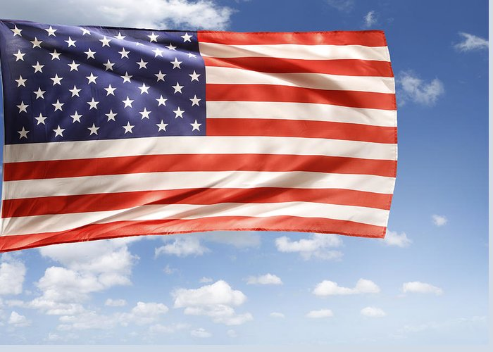 Independence Day Greeting Card featuring the photograph American Flag by Les Cunliffe