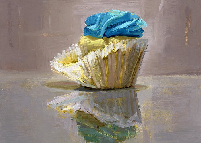 Cupcake Greeting Card featuring the painting Rcnpaintings.com by Chris N Rohrbach