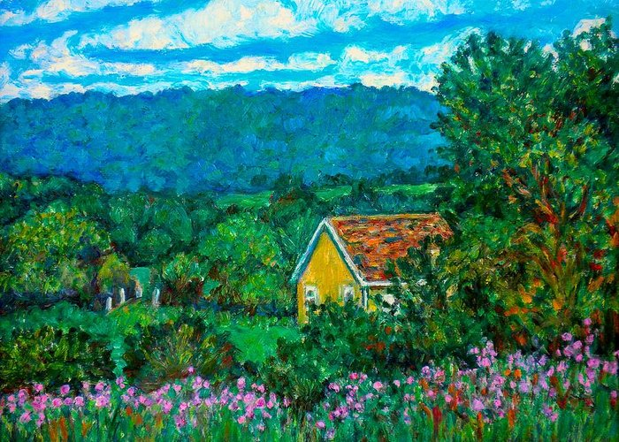 Landscape Greeting Card featuring the painting 460 by Kendall Kessler