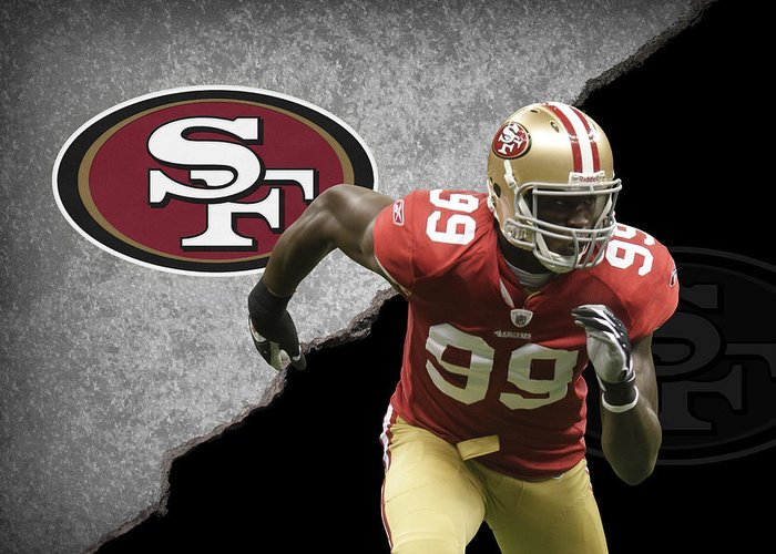 49ers Greeting Card featuring the photograph 49ers Aldon Smith by Joe Hamilton