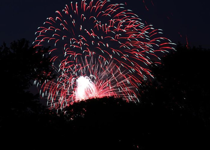 Washington Greeting Card featuring the photograph 4th Of July Fireworks - 011312 by DC Photographer