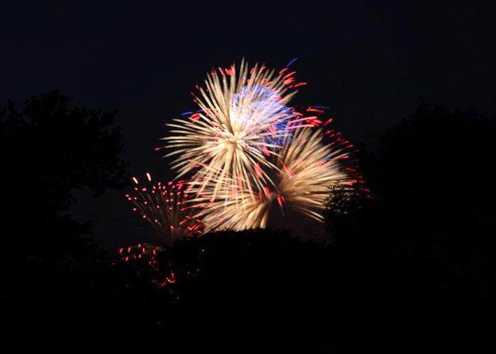 Washington Greeting Card featuring the photograph 4th Of July Fireworks - 011320 by DC Photographer