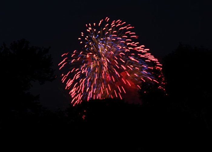 Washington Greeting Card featuring the photograph 4th Of July Fireworks - 011321 by DC Photographer