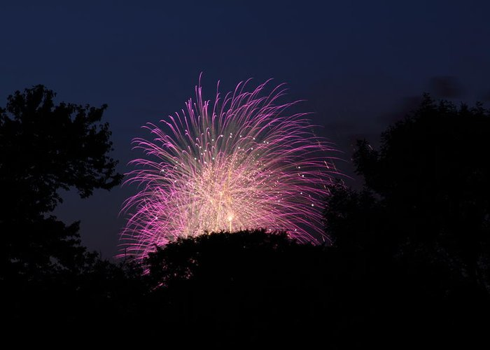 Washington Greeting Card featuring the photograph 4th Of July Fireworks - 01133 by DC Photographer