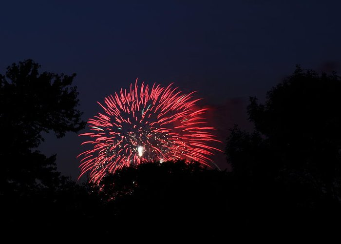 Washington Greeting Card featuring the photograph 4th Of July Fireworks - 01136 by DC Photographer