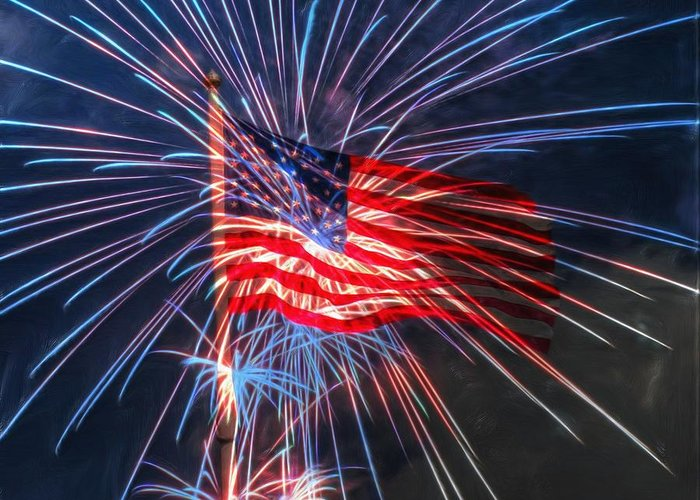 4th Greeting Card featuring the digital art 4th Of July by Heidi Smith