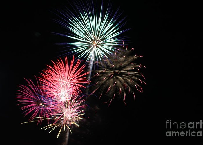 Fireworks Greeting Card featuring the photograph 4th Of July by Renee Chandler