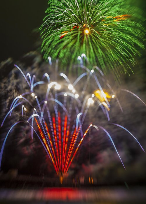 Fireworks Greeting Card featuring the photograph 4th Of July Through The Lens Baby by Scott Campbell