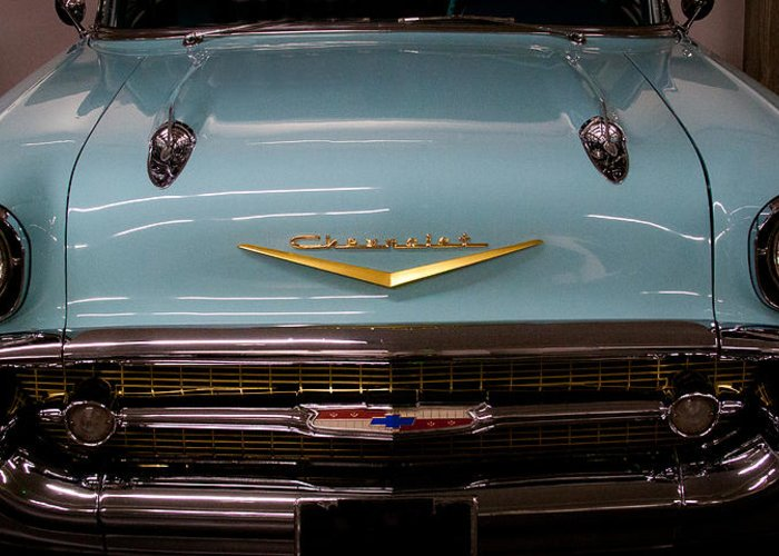 57 Greeting Card featuring the photograph 1957 Chevy Bel Air by David Patterson