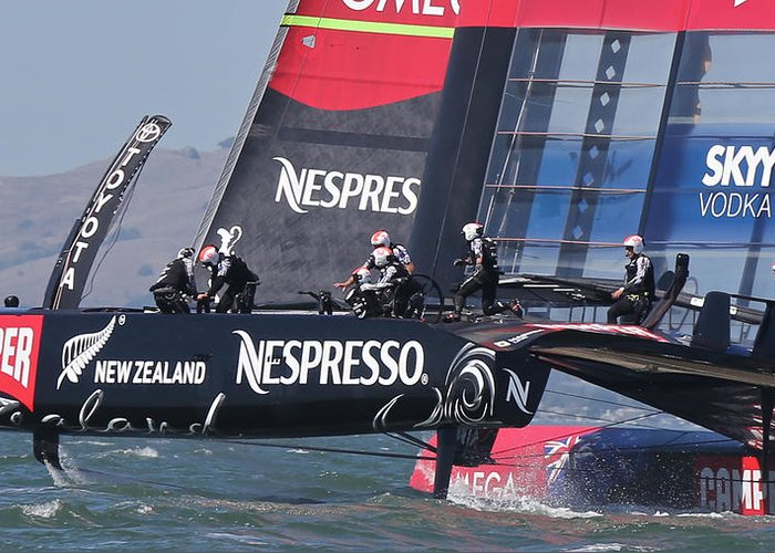 Ac34 Greeting Card featuring the photograph America's Cup San Francisco by Steven Lapkin