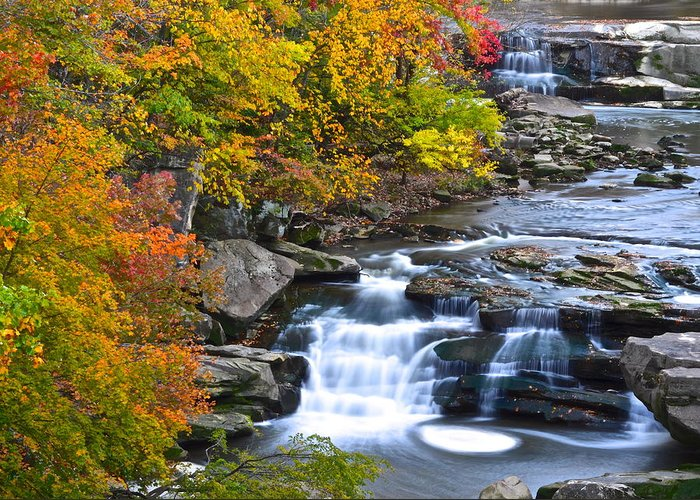 Berea Greeting Card featuring the photograph Berea Falls by Frozen in Time Fine Art Photography