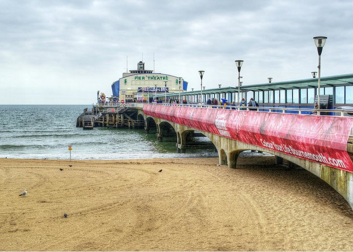Bournemouth Pier Greeting Card featuring the photograph Bournemouth Pier by Chris Day