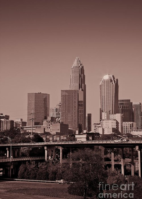 Skyline Greeting Card featuring the photograph Charlotte Skyline by Jill Lang