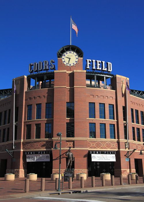 America Greeting Card featuring the photograph Coors Field - Colorado Rockies by Frank Romeo