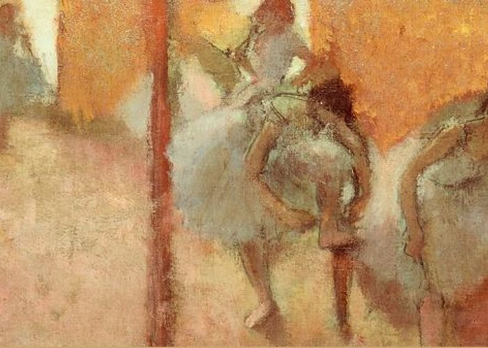 Art Greeting Card featuring the painting Dancers by Edgar Degas