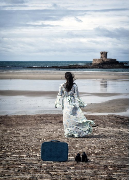 Woman Greeting Card featuring the photograph Farewell by Joana Kruse