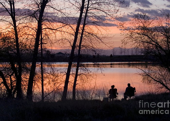 Colorado Greeting Card featuring the photograph Fly Fishing At Sunset by Steve Krull