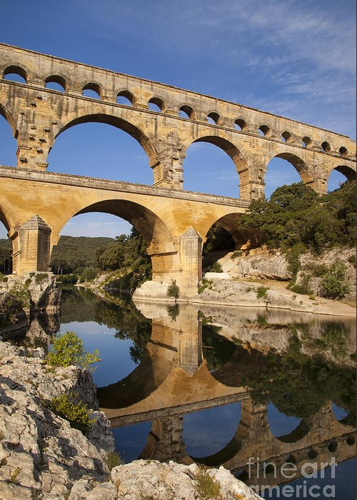 Ancient Greeting Card featuring the photograph Pont Du Gard by Brian Jannsen