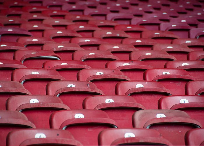 Stadium Greeting Card featuring the photograph Stadium Seats by Frank Gaertner
