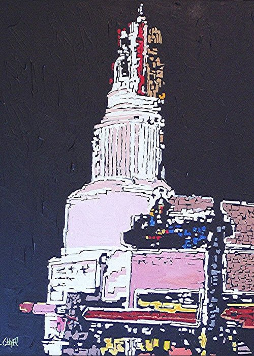 Sacramento Greeting Card featuring the painting Tower Theatre by Paul Guyer