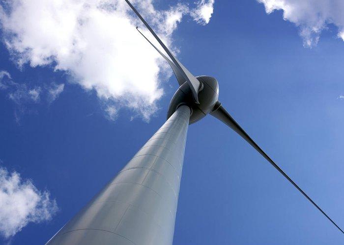 Alternative Greeting Card featuring the photograph Wind Turbine by Bernard Jaubert