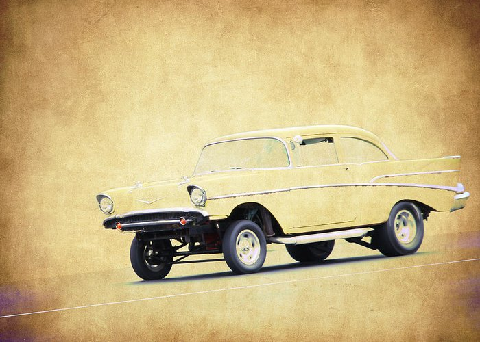 57 Chevy Gasser Greeting Card