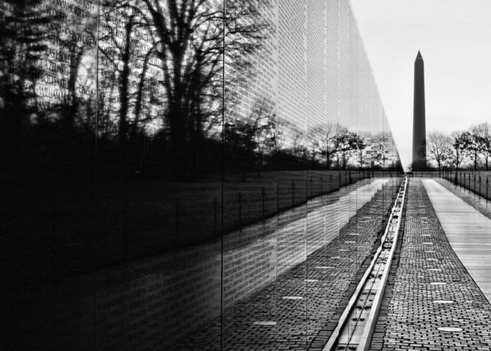 Vietnam Wall Greeting Card featuring the photograph 58286 by JC Findley