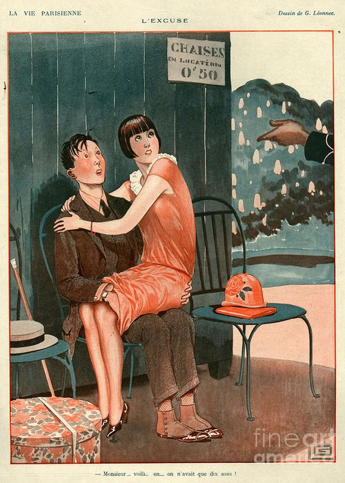 France Greeting Card featuring the photograph 1920s France La Vie Parisienne Magazine by The Advertising Archives