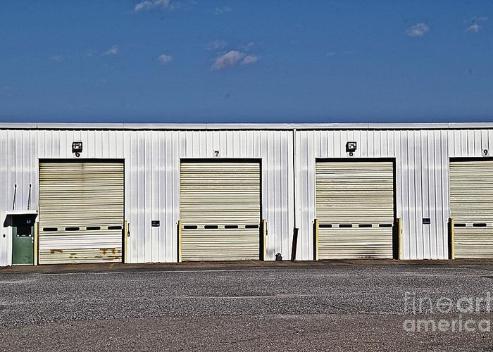 6 7 8 9 Warehouse Not In Use Now This Is A Very Large Trucking Opeation Greeting Card featuring the photograph 6 7 8 9 Warehouse by JW Hanley