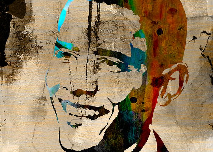 President Barack Obama Paintings Mixed Media Mixed Media Mixed Media Greeting Card featuring the mixed media Barack Obama by Marvin Blaine