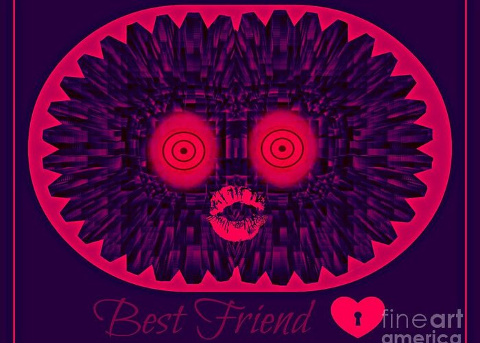 Friends Greeting Card featuring the digital art Best Friend by Meiers Daniel