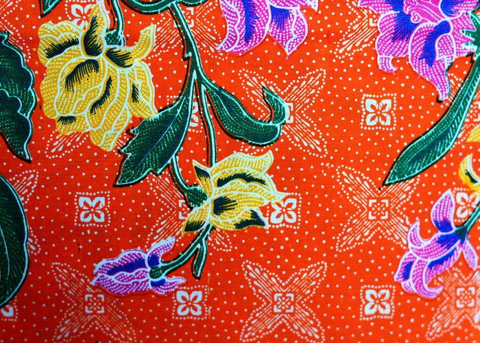 Plaid Greeting Card featuring the tapestry - textile Colorful Batik Cloth Fabric Background by Prakasit Khuansuwan