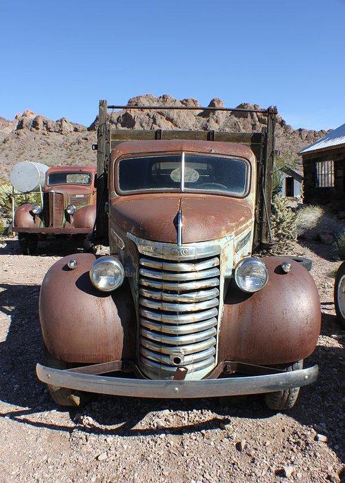 Eldorado Canyon Greeting Card featuring the photograph Eldorado Canyon Auto Show by Douglas Miller