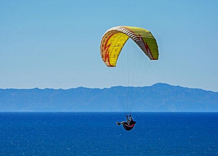 Santa Barbara Greeting Card featuring the photograph Flying by Elijah Weber