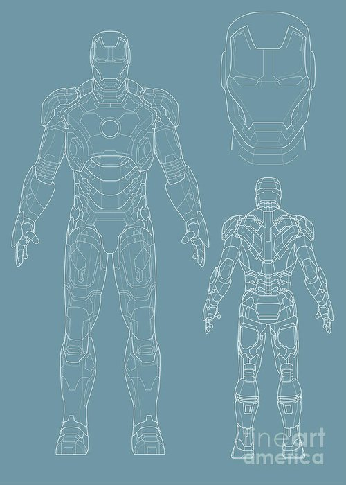 Iron Man Greeting Card featuring the digital art Iron Man by Caio Caldas
