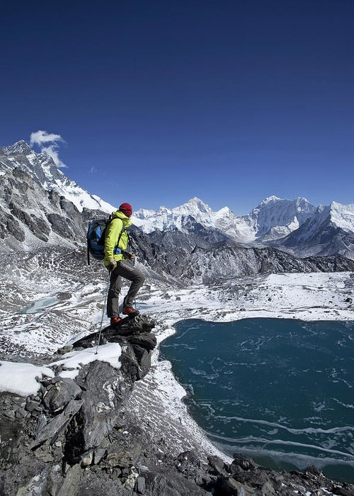 Adult Greeting Card featuring the photograph Khumbu by Mario Colonel