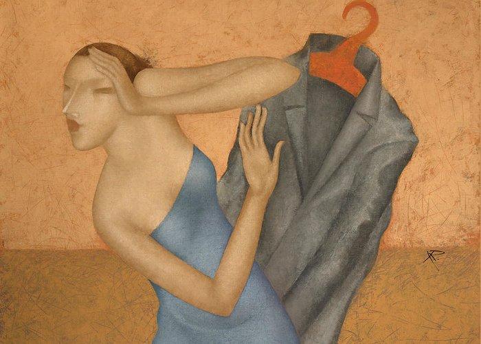 Coat Hanger Paintings Greeting Cards