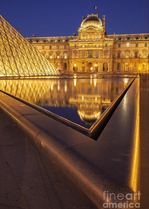 Architectural Greeting Card featuring the photograph Musee Du Louvre by Brian Jannsen
