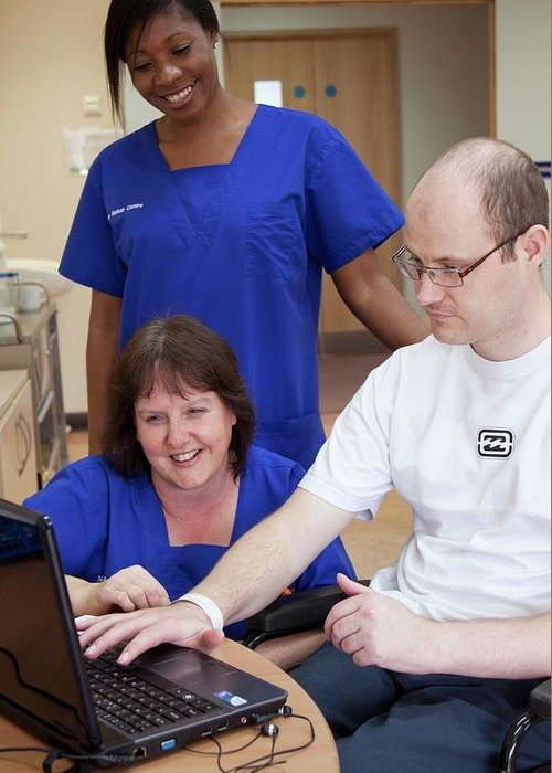 Human Greeting Card featuring the photograph Rehabilitation Unit 6 by Life In View/science Photo Library