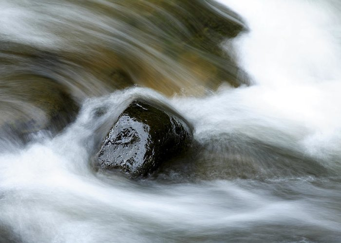 Brook Greeting Card featuring the photograph Stream by Les Cunliffe