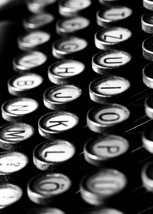 Schreibmaschinentasten Greeting Card featuring the photograph Typewriter Keys by Falko Follert