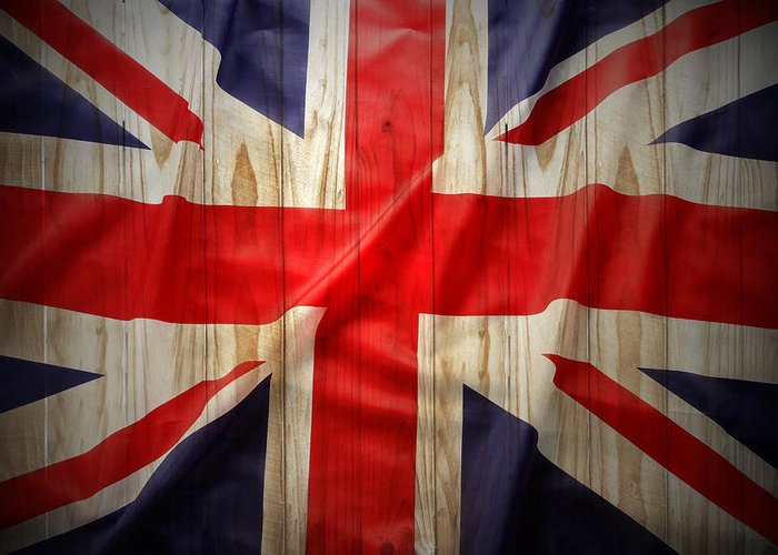 Fence Greeting Card featuring the photograph Union Jack by Les Cunliffe