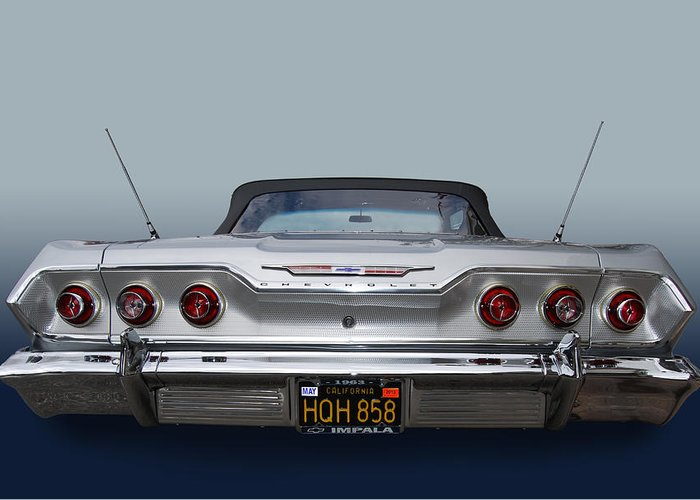 Chevy Greeting Card featuring the photograph 63 Ragtop by Bill Dutting