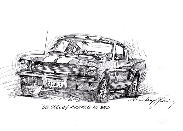 Carroll Shelby Drawings Greeting Cards