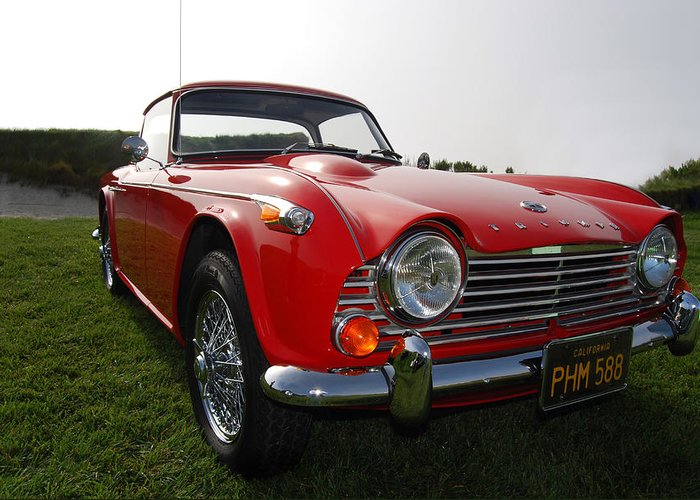 Triumph Greeting Card featuring the photograph 66 Tr4a by Bill Dutting