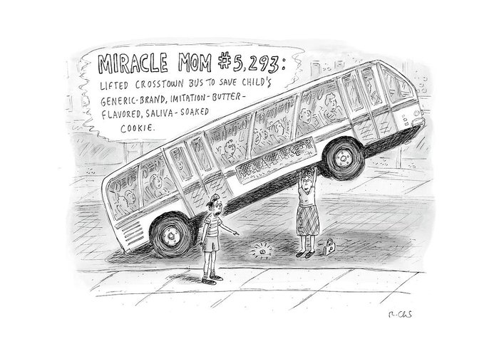 Miracles Greeting Card featuring the drawing New Yorker October 8th, 2007 by Roz Chast